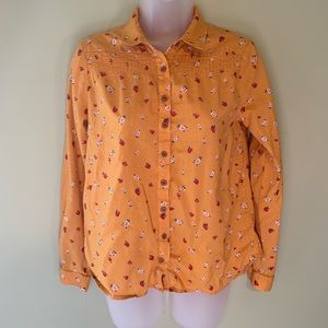 Maeve by Anthropologie Ditsy Floral Shirt, Size 0